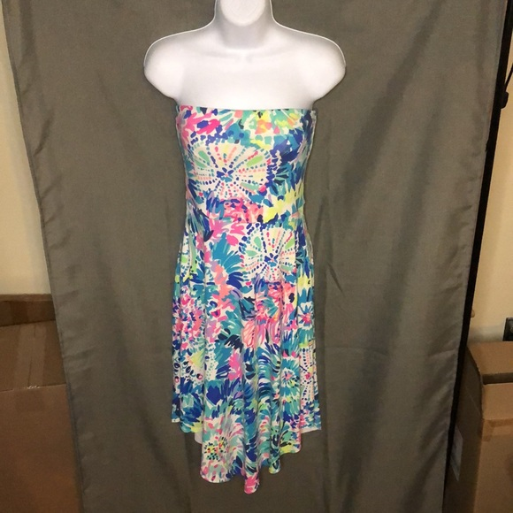 Lilly Pulitzer Loleta Strapless Dress in Dive In